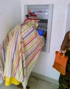 So Evil Spirits Have Started Using ATM in Lagos? [See Photo]